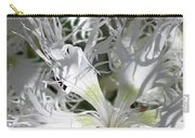Dianthus Superbus - White Carry-all Pouch