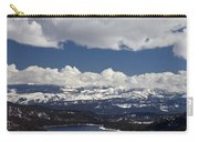 Donner Lake Donner Pass With Snow Carry-all Pouch