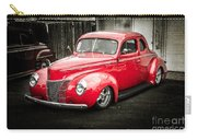 2 Door Red Carry-all Pouch