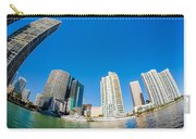 Downtown Miami Fisheye Carry-all Pouch