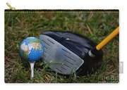 Earth Golf Ball And Golf Club Carry-all Pouch