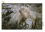 Egret Fractalius Carry-all Pouch
