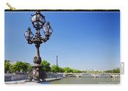 Eiffel Tower And Bridge On Seine River In Paris Carry-all Pouch