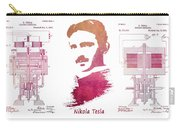 electric generator patent art Nikola Tesla Carry-all Pouch