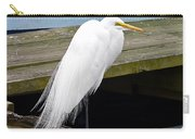 Elegant Egret Carry-all Pouch