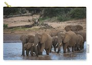 Elephants Crossing The River Carry-all Pouch
