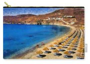 Elia Beach In Mykonos Island Carry-all Pouch