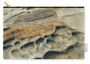 Eroded Sandstone Cliff Along The Ocean Carry-all Pouch