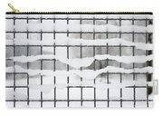 Fence With Snow Carry-all Pouch