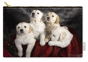 Festive Puppies Carry-all Pouch by Angel  Tarantella
