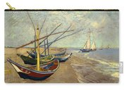 Fishing Boats On The Beach Carry-all Pouch