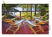 Forest Cottage Deck And Chairs Carry-all Pouch by Elena Elisseeva