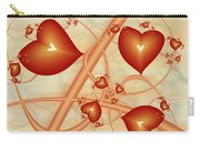 Fractal Red Hearts Carry-all Pouch