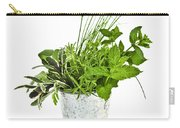 Fresh Herbs Carry-all Pouch by Elena Elisseeva