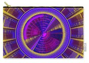 Futuristic Tech Disc Fractal Flame Carry-all Pouch