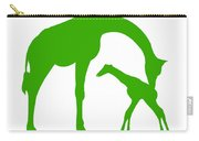 Giraffe In Green And White Carry-all Pouch