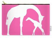 Giraffe In Pink And White Carry-all Pouch