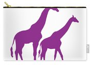 Giraffe In Purple And White Carry-all Pouch