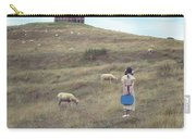 Girl With Sheeps Carry-all Pouch by Joana Kruse