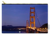 Golden Gate Bridge At Night Carry-all Pouch