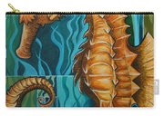 Golden Seahorse Carry-all Pouch