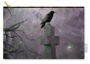 Surreal Crow In Gothic Purple Sky Carry-all Pouch