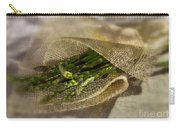 Green Asparagus On Burlab Carry-all Pouch