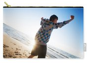 Happiness In The Beach Scenery Carry-all Pouch