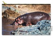 Hippopotamus In River. Serengeti. Tanzania Carry-all Pouch