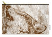 Howling Gray Wolf Carry-all Pouch