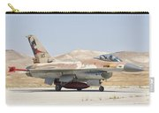 Israeli Air Force F-16 At Nevatim Air Carry-all Pouch