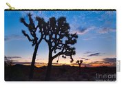 Josua Trees Beautifully Lit During Sunrise In Joshua Tree Nation Carry-all Pouch