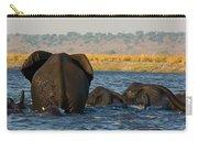 Kalahari Elephants Crossing Chobe River Carry-all Pouch