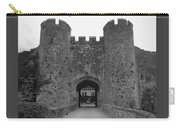 Keys To The Castle - Black And White Carry-all Pouch