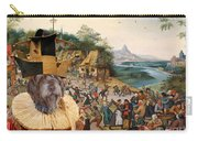 Korthals Pointing Griffon Art Canvas Print Carry-all Pouch