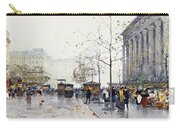 La Madeleine Paris Carry-all Pouch by Eugene Galien-Laloue