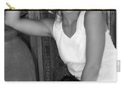Lady In White Bw Carry-all Pouch
