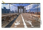 Lanes For Pedestrian And Bicycle Traffic On The Brooklyn Bridge Carry-all Pouch