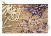 Lavender Flowers And Seeds Carry-all Pouch