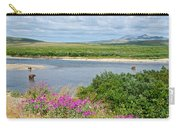 2-lay Of The Land-grizzly Bears In Moraine River In Katmai Np-ak Carry-all Pouch