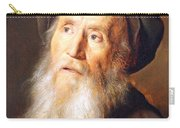Lievens' Bearded Man With A Beret Carry-all Pouch