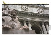 Lion New York Public Library Carry-all Pouch
