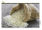 Long Grain Rice In Burlap Sack Carry-all Pouch by Elena Elisseeva