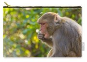 Macaque Eating An Orange Carry-all Pouch
