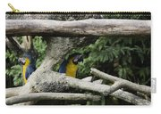 2 Macaws Framed By Tree Branches Inside The Jurong Bird Park Carry-all Pouch