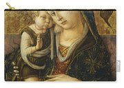 Madonna And Child Carry-all Pouch by Carlo Crivelli