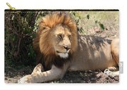 Male Lion On The Masai Mara  Carry-all Pouch