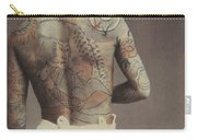 Man With Traditional Japanese Irezumi Tattoo Carry-all Pouch by Japanese Photographer