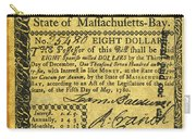 Massachusetts Banknote Carry-all Pouch