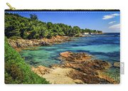 Mediterranean Coast Of French Riviera Carry-all Pouch by Elena Elisseeva